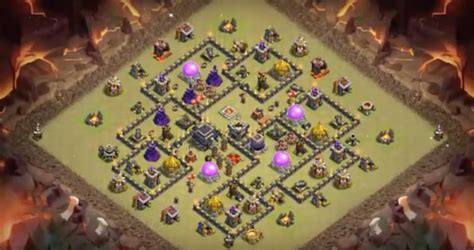 th9 base with war bomb tower 2016 17 farming war base layouts th7 to th11 for august 2016