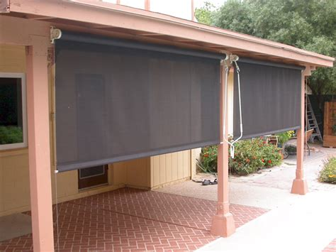 Shade Covers For Patio Roll Down Patio Shades Aaa Sun Control