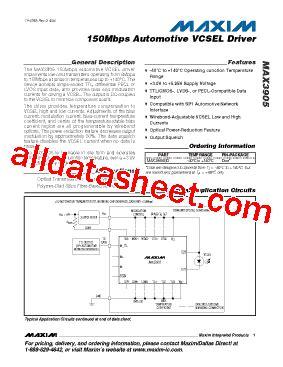 maxim integrated products automotive max3905 d データシート pdf maxim integrated products