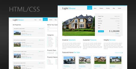 light house real estate 25 responsive html5 marketing website templates tutorial zone