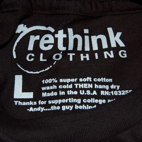 Kaos One One Graphic 5 rethink clothing t shirt tags shirt tags logos
