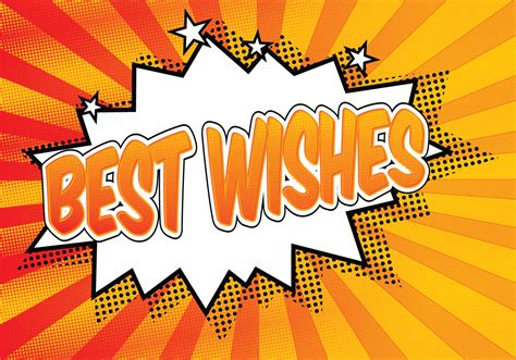 best wishes pictures comic style best wishes illustration free