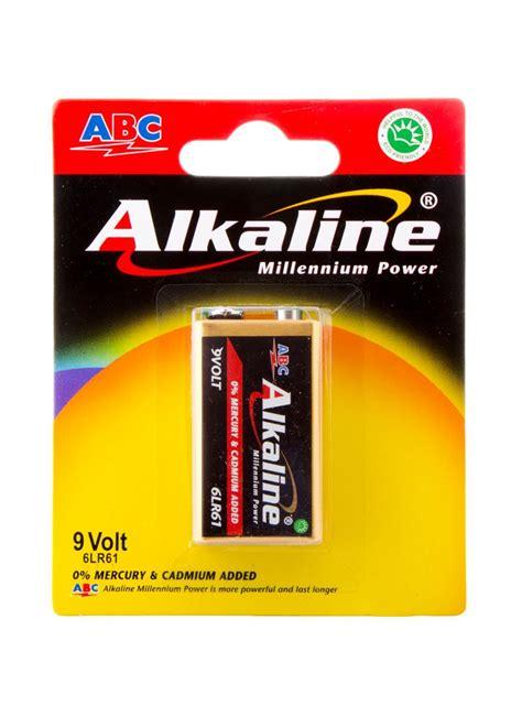 Batere Abc Aaa Power abc battery alkaline 9 volt 6lr61 millennium pwr pck