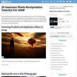gimp tutorial photo manipulation gimp tutorials pearltrees