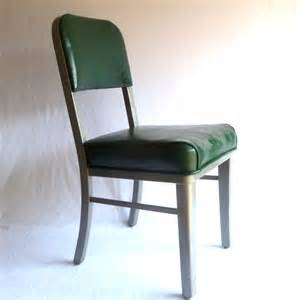 green steel chair vintage office chair