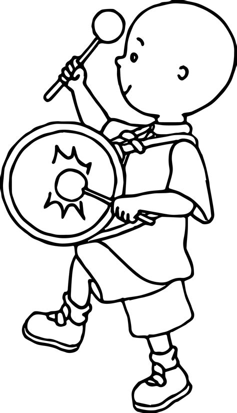 coloring book band caillou band coloring page wecoloringpage