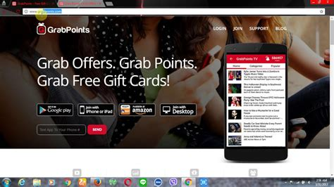 Free 10 Dollar Paypal Gift Card - grabpoints free gift card paypal dollars using mobile and iphone make money online