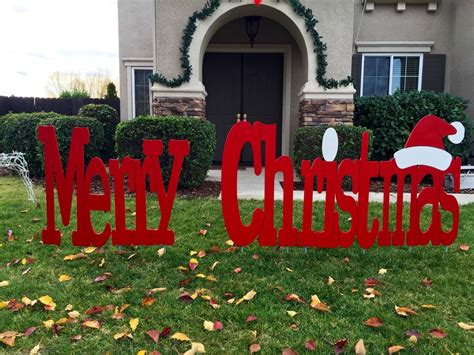 merry christmas outdoor holiday yard art sign large