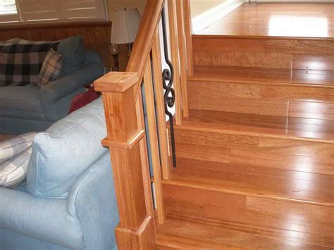 Installing A Stair Banister by How To Repairs How To Install Wood Stair Railing How