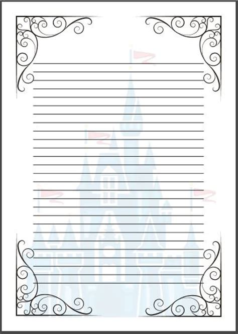 themed writing paper template tale writing paper template a4 cinderella disney