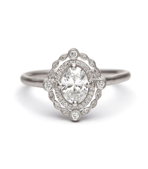 Oval Engagement Rings by Engagement Rings Deco Decadence Platinum Oval Ring