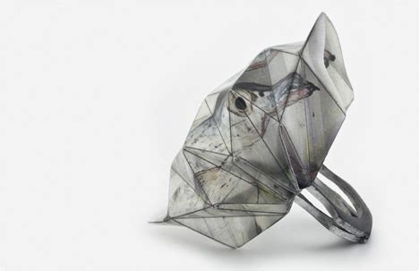 Industrial Origami - lital mendel fold of the ring design fashion