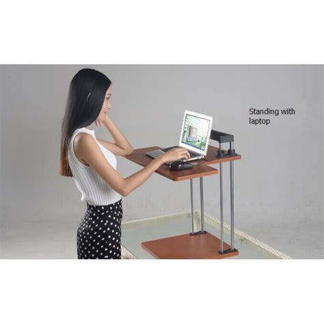 Height Adjustable Sit Stand Computer Desk Sit And Stand Computer Desk