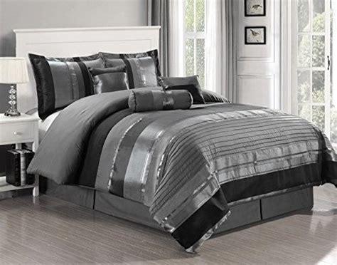 grey black comforter sets gray w black silver stripe comforter set king size 7