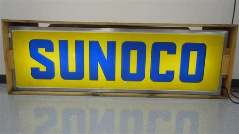 sunoco lighted signs for sale sunoco lighted sign 80x24 5x7 5 b34 indy 2015