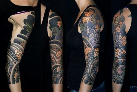 arm tattoo japanese art arm flower japanese tattoo by shane tan