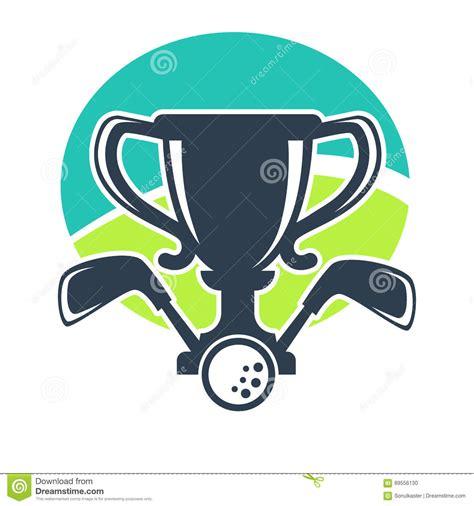 Golf Club Or Tournament Award Cup Vector Icon Stock Vector Image 89556130 Golf Tournament Logo Template