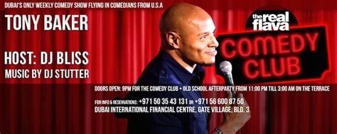 The Living Room Comedy Club الكوميديان توني باكر في دبي عين دبي