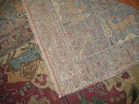 animal rug with pictorial animal rug at 1stdibs