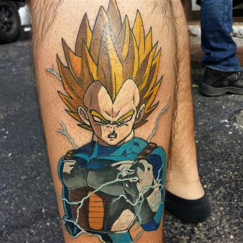 badass tattoo ideas featuring vegeta