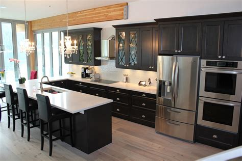 grey stain on maple shaker cabinets beautiful home in deep cove cornerstone kitchens