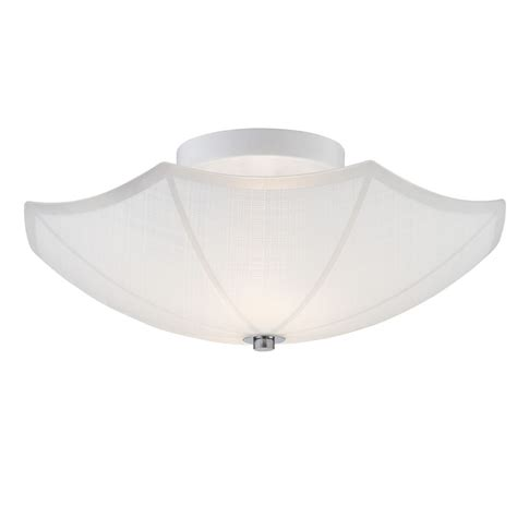 home depot flush mount light hton bay 1 light chrome dumant glass semi flush mount