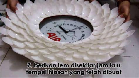 membuat jam dinding dari sendok plastik media pembelajaran kreatif membuat jam unik dari barang