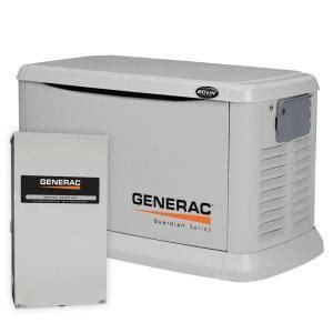 generac 20 000 watt air cooled automatic standby generator