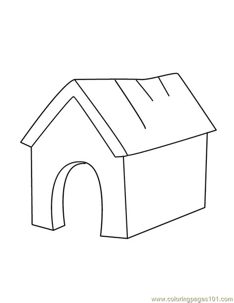 dog house coloring page dog house coloring page free houses coloring pages coloringpages101 com