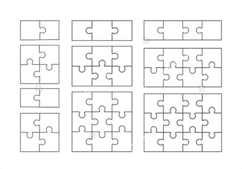 Jigsaw Puzzle Template Generator Noshot Info Jigsaw Puzzle Template Generator
