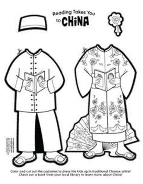 coloring pages kung fu countries gt china free printable coloring page printable cutout paper doll sheet hispanic heritage