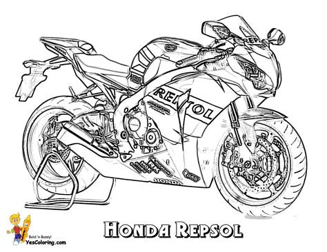 honda motorcycle coloring pages free coloring pages of honda motorbikes