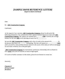 Bank Certification Letter For Immigration Purposes 7 Bank Reference Letter Templates Free Sample Example Format Free Amp Premium Templates