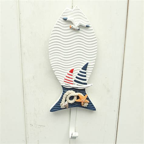 Nautical Door Hooks wooden chic nautical decorative hook coat hat clothes hanger door wall decor ebay