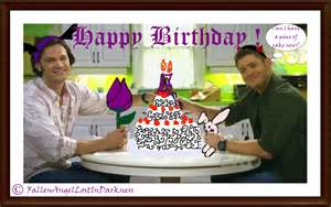 supernatural birthday card by fallenindarkness on deviantart