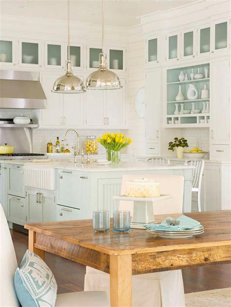 House Kitchen Cabinets Coastal Style House Kitchen