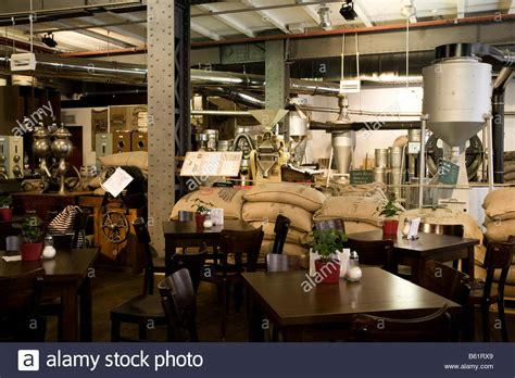 roast house coffee interior view of a coffee roasting house speicherstadt warehouse stock photo royalty