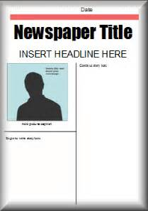 News Report Template by Literacy