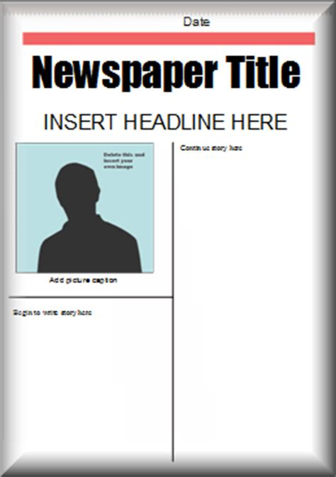 layout of a news report image gallery newspaper layout ks2
