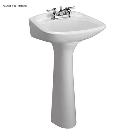 Complete Pedestal Sink Shop Barclay Chelsea 32 5 In H White Vitreous China