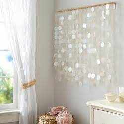 Gray Ikat Curtains Silver And Gold Capiz Wall Art