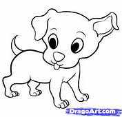 How To Draw An Easy Puppy Step By Cartoon Animals