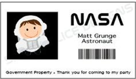 Astronaut Name Tags Page 4 Pics About Space Nasa Name Tag Template