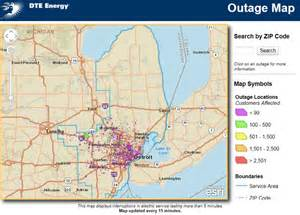 power outage map interactive map dte energy power outages