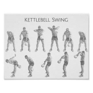 kettlebell swing every day kettlebells posters zazzle co uk