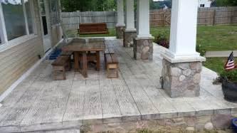 patio porch concrete wood plank porch patio