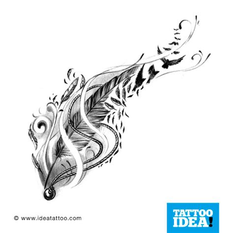 Tattoo Flash Feather | tattoo flash feathers ideatattoo