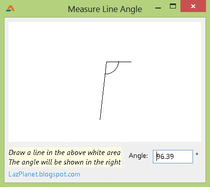 scow measurement measure the angle of a line lazplanet