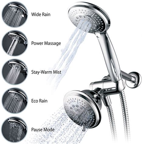 2 In 1 Shower by Dual Shower Handheld Combo Bathroom 3 Way Water
