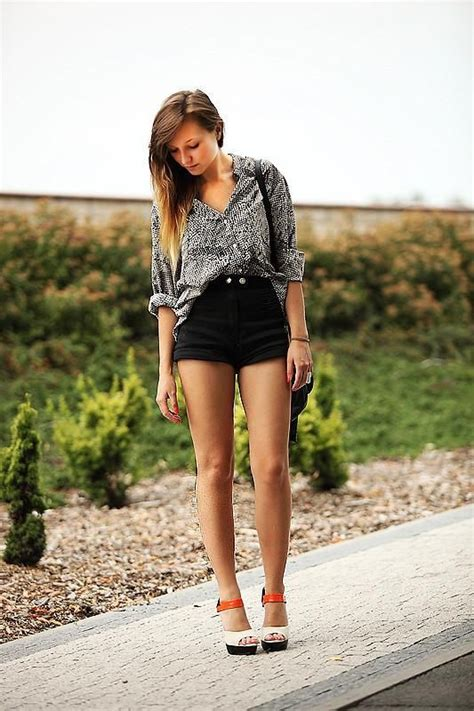 5 Sweet And Shorts Styles by Shop This Look On Kaleidoscope Blouse Shorts Heels